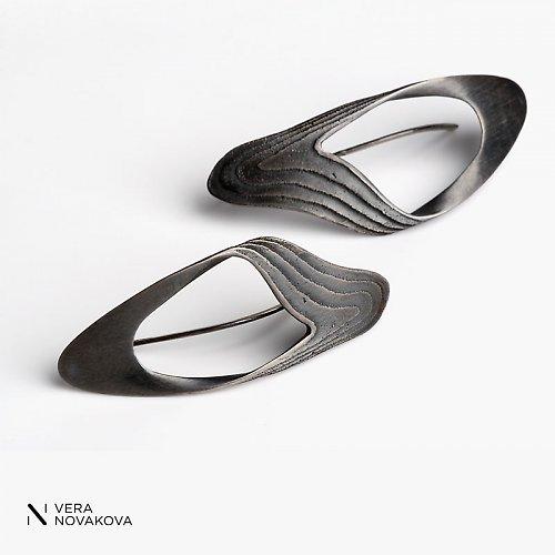 Náušnice Sepiserie - patinované stříbro