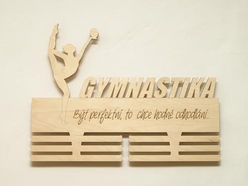 Závěs na medaile pro moderní gymnastku-gravír
