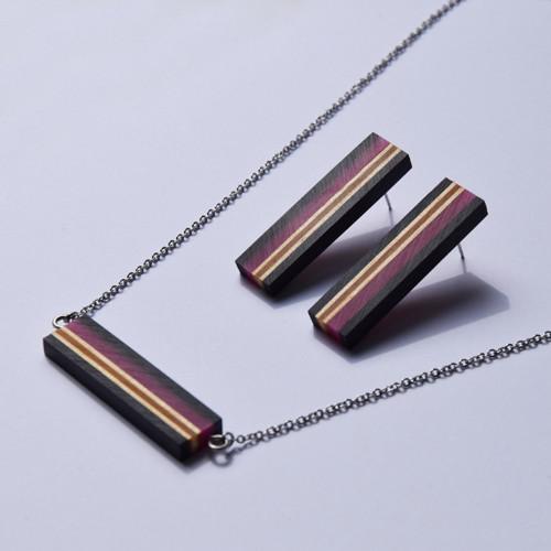 Black Frame / výhodná sada / náhrdelník+náušnice M