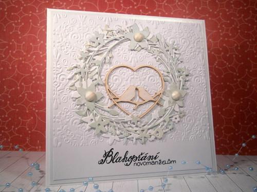 Přání - svatební  ptáčci