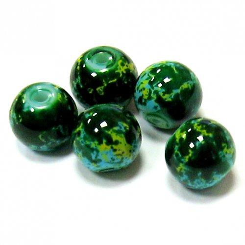 Korálky pestrobarevné - 8 mm - 6 ks