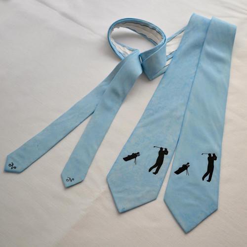 Hedvábná golfová kravata