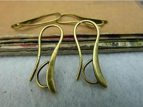 Náušnicové háčky, bronz - 1 pár