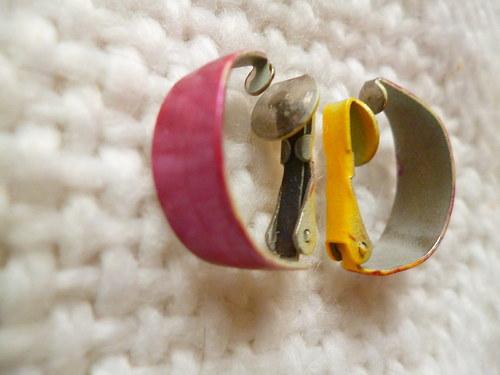 Kovové náušnice klipsy
