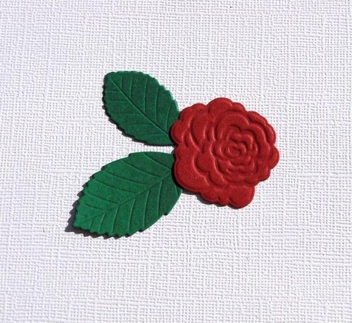 Růže a lístky (3 ks)
