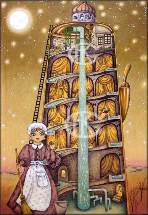 """Velký Cikorkáč (obrázek z knížky \""""Hajundija\"""")"""