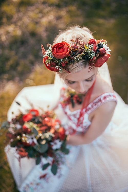 """Květinový boho věneček \""""sladké pokušení\"""""""