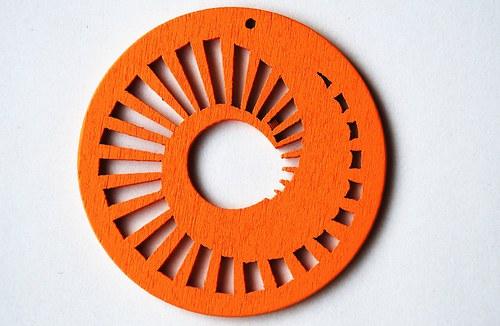 dřevěné kolečko 60 mm- oranžové