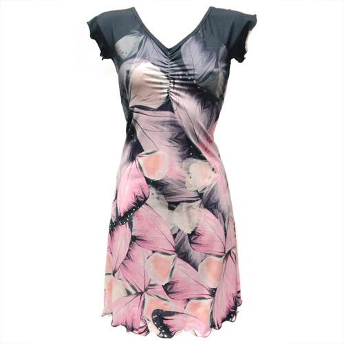 Letní šaty BUTTERFLY WING růžové - 34 až 44