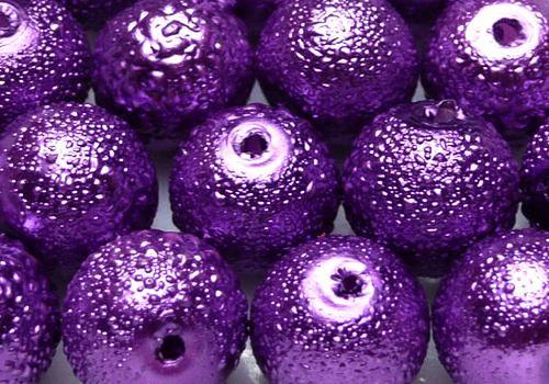 Vroubkované voskovky 8 mm - 10 ks - tm. fialová