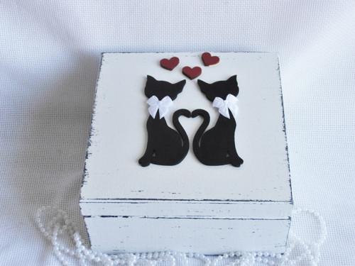 Svatební truhla - kočky