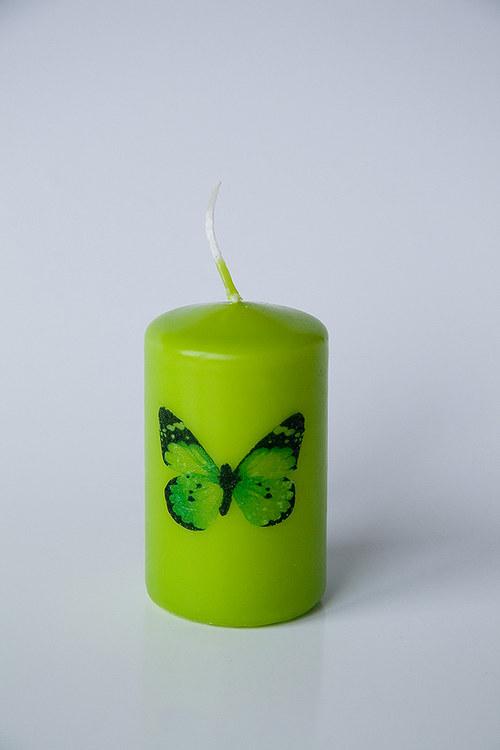 Svíčka s motýlem