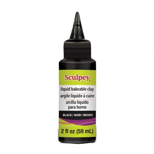 Tekutá polymerová hmota Sculpey / 59 ml / černá