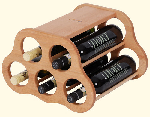 Dřevěná domácí vinotéka na 5 lahví