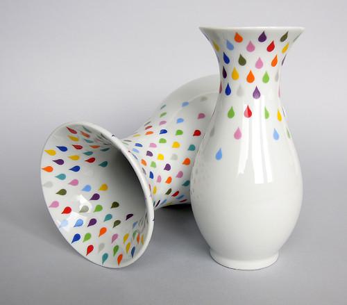 Barvy deště - porcelánová váza (malá)