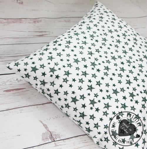 Vánoční povlak na polštář Zelené hvězdy