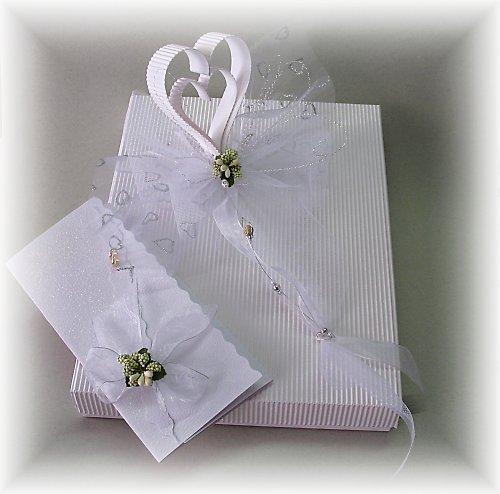 Svatební krabička s přáníčkem