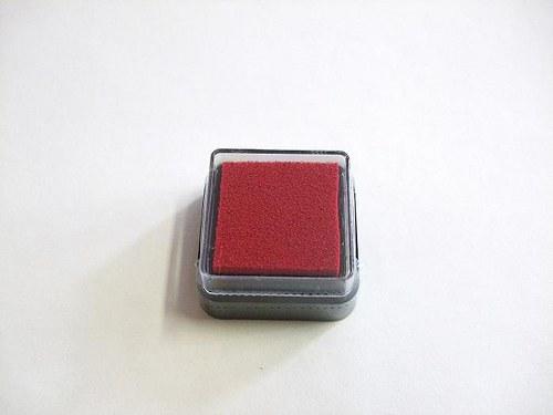 Razítkovací polštářek - červená