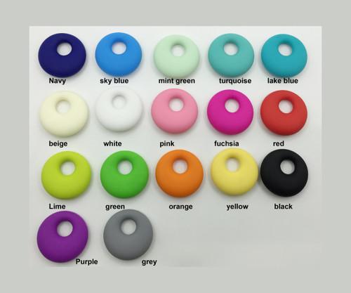 Silikonový kroužek 45mm (1ks) - turquoise(+ DÁREK)