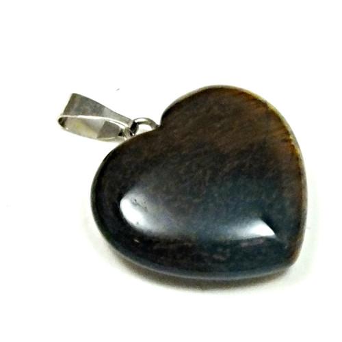 přívěsek srdce - minerál č.4, průměr 21 mm,