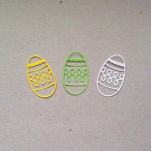 Výsek - Velikonoční kraslice  3ks