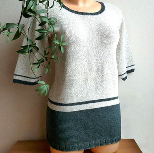 Pletená bavlněná halenka - vel.XL-XXL