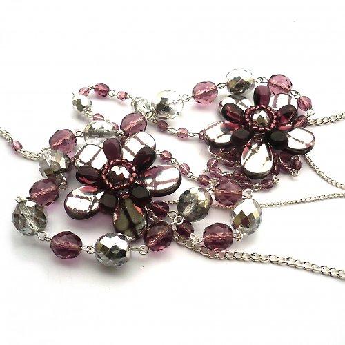 Pocukrované fialky - náhrdelník - 20% sleva!!!