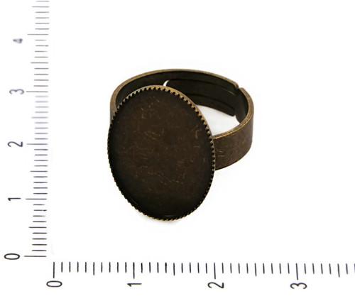 2ks Starožitné Bronzové Nastavitelný Bezel Ring Zá