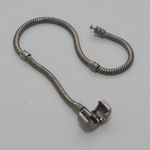 Náramek na pandorky / 18,5 cm / metal gun