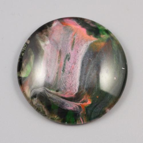 Kabošon: sklo, průměr 4 cm