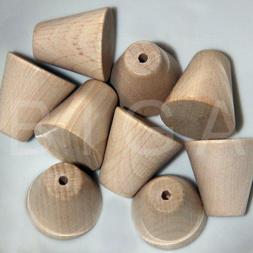 dřevěné korálky kužel