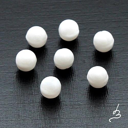Kuličky bílé 4 mm - 50 ks