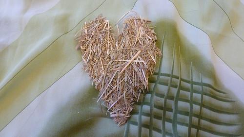 Srdce ze sena malé podlouhlé jednostranné