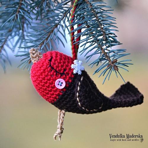 Já jsem,Robin,ptáček vánoční - návod na háčkování