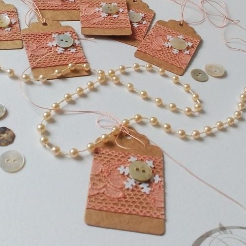 Jmenovka vánoční s perletí