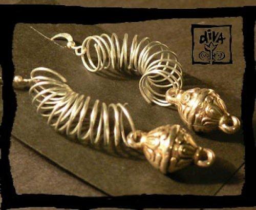 Náušnice - stříbrné spirály
