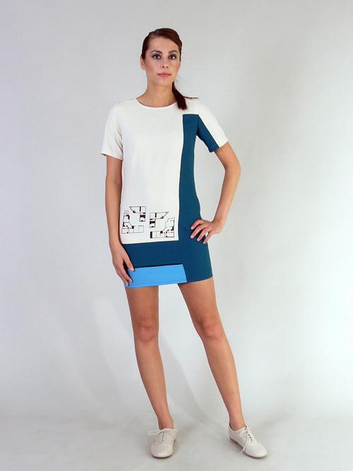 Šaty s digitálním tiskem (půdorys galerie)