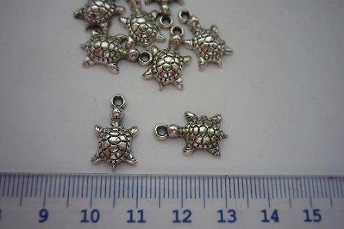 ŽELVIČKA- 4ks- kovoplast-barva stříbrná