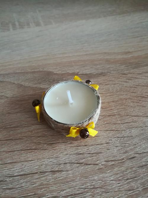 Dekorativní čajová svíčka - slunečnice