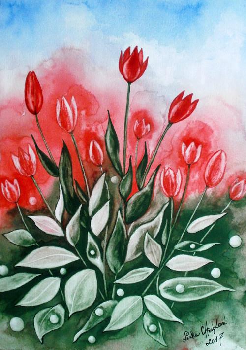 Jaro s tulipány