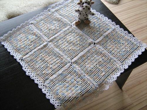 Háčkovaná deka pro mimi
