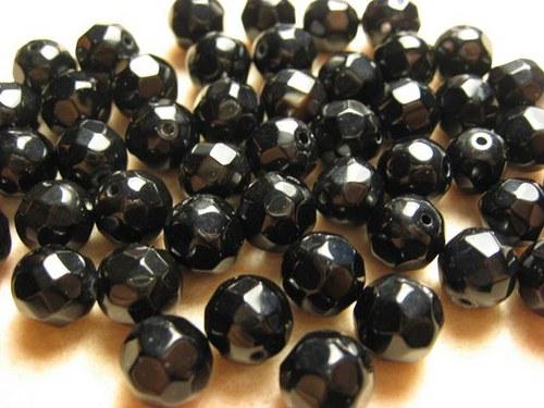 Onyx fazetované korálky 10mm  (cena 3 ks)