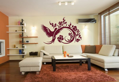 Fénix 40x60cm Samolepíci dekorace na zeď 3037n
