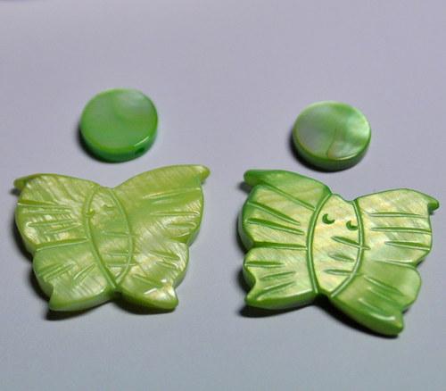 10.MIX - Perleťovvý - zelenkavá - na náušnice