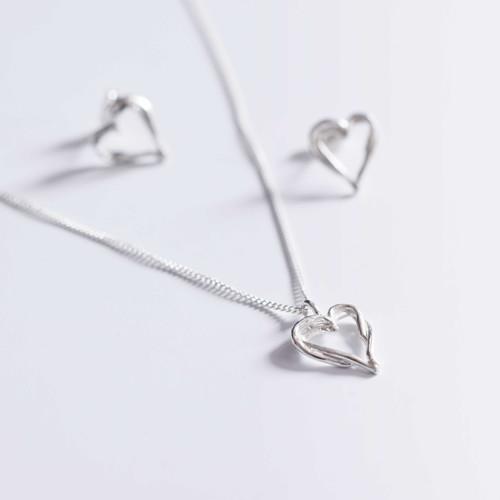 Náhrdelník Srdce stromů 42 cm stříbro 925