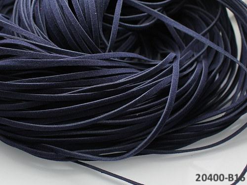 20400-B16 Semišová šňůrka 100cm TM.MODRÁ, bal.3ks