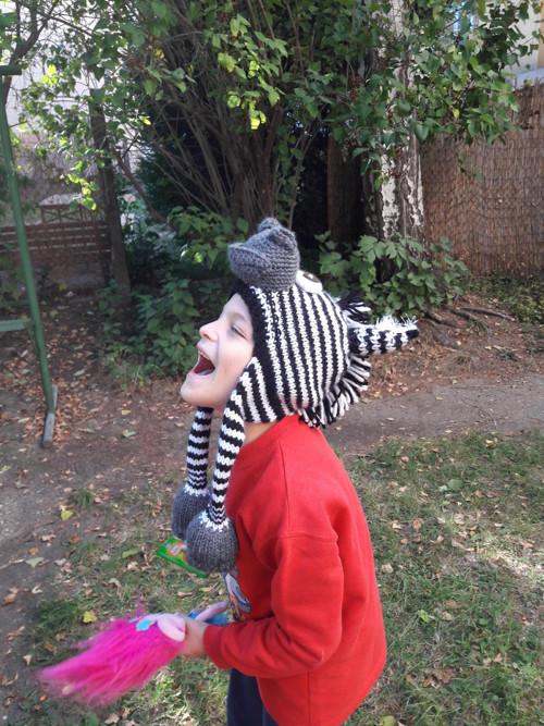 Dětská ušanka ZEBRA