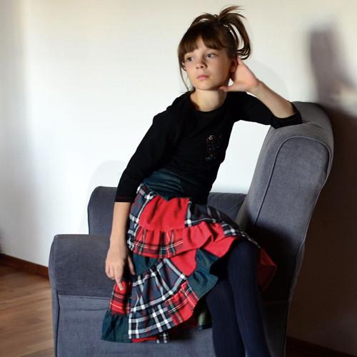 Love II- zavinovací sukně dívčí/slečinkovská