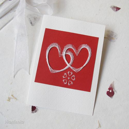 Svatební přání červenobílé