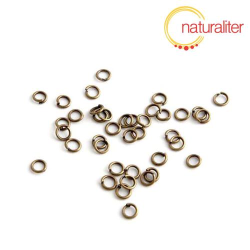 Spojovací kroužky 4x0,7mm starobronz, 100ks